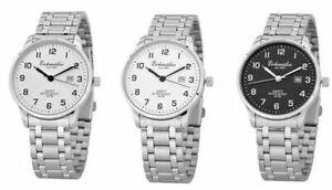 Eichmueller-Herrenuhr-Armbanduhr-Uhr-Herren-40mm-3ATM-Miyota-Stahl-Ziffern-Datum