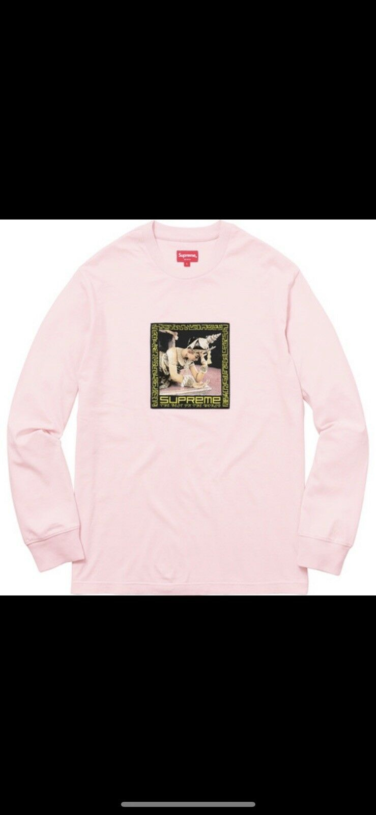Supreme Best In The World LS Tee 100% Authentic PINK