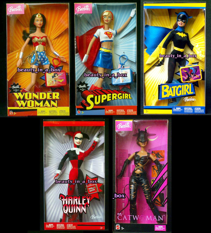 Mujer Maravilla De Muñeca Barbie Batgirl Supergirl Harley Quinn Gato Super Héroe Lote 5 en muy buena condición