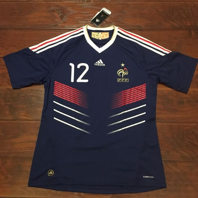 03c0eac6b 2010 France Home Jersey #12 Henry Large NIKE World Cup Soccer Adidas NEW