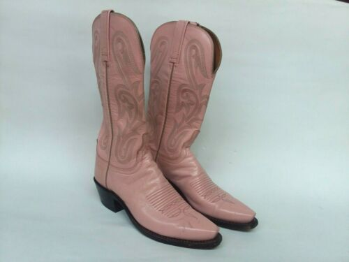 Lucchese 1883 Pink Women Leather Cowboy Boots  Siz