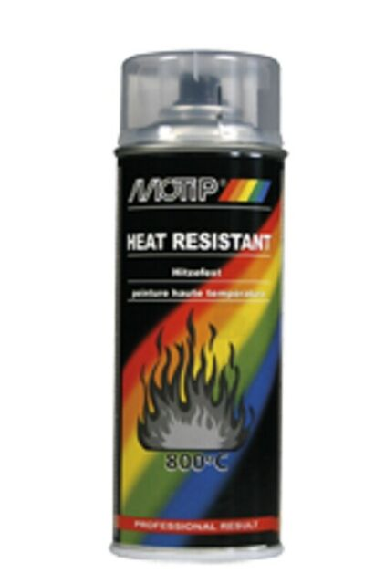 Motip 04033 chaleur fixe Laque Transparente 400 Ml 800 ° C hitzelack hitzefestlack voiture