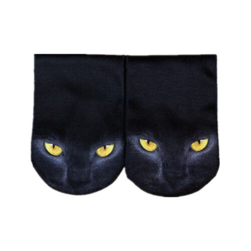 3D Print Animal Women  Socks Socks Cute Cat Unisex Low Cut Ankle Socks HGUK