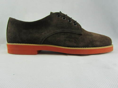 Men Sole Brown Shoes Orange Suede Lace Retro Buck London Up fxw857
