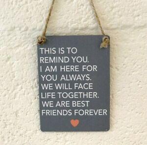 Grey-Mini-Metal-Close-best-Friends-Forever-Love-Friendship-plaque-Gift-plaque
