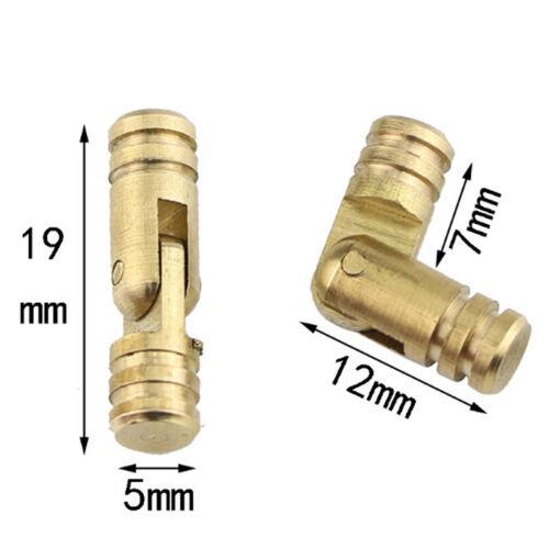 10Pcs cuivre laiton Boîte à bijoux cachés invisible dissimulé Baril Charnière
