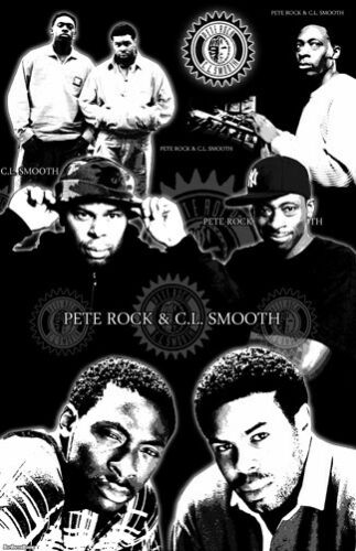 """PETE ROCK /& CL SMOOTH  11x17  /""""Black Light/"""" Poster"""