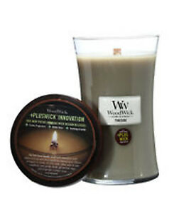 New WoodWick ® Fireside Crackling Fire Flame 21oz Candle BURNS 180+ HRS!