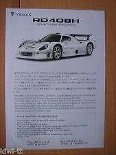 Tokyo R&D Vemac RD408H Prospekt / Brochure, Japan, sehr selten / very rare!