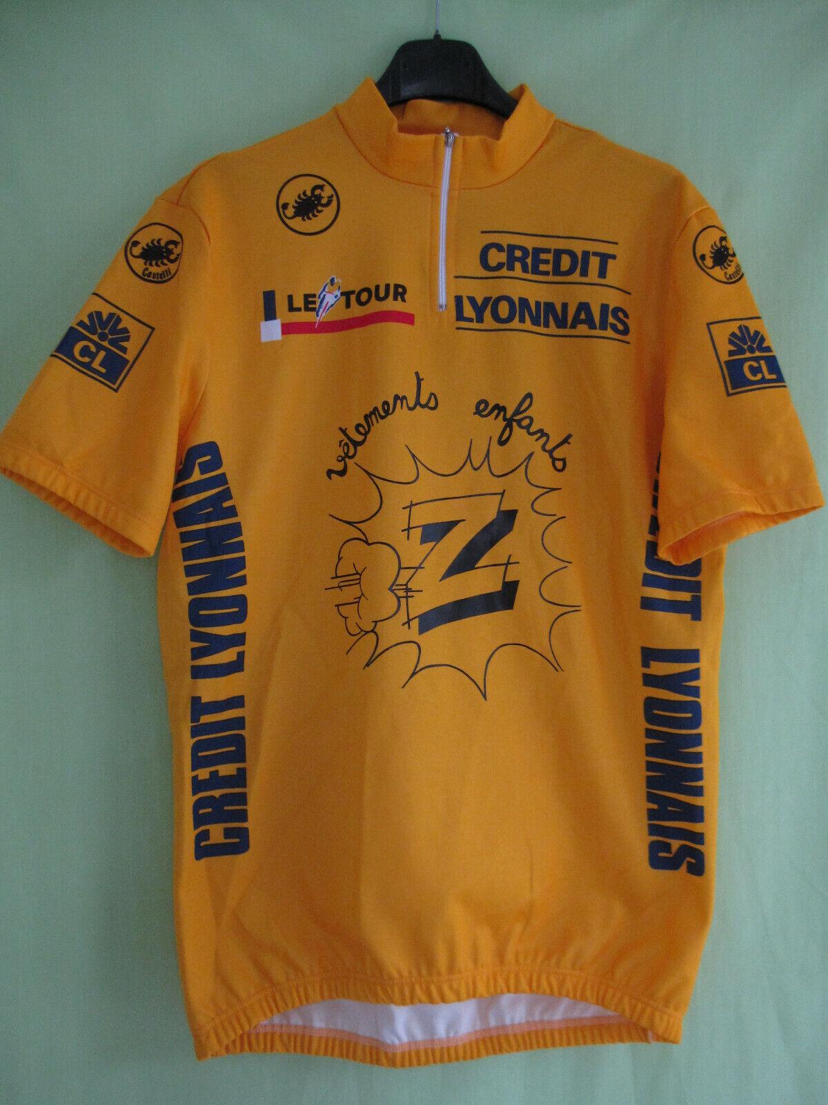Yellow jersey cyclist clothing   ldren z Greg lemon 1990 jersey-xl  100% brand new with original quality
