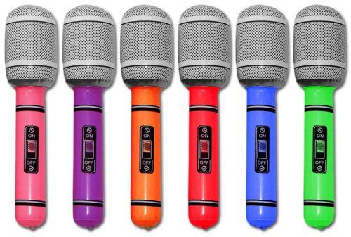 Farben 6//12//24//36 aufblasbares Mikrofon 25cm Mikrofone Party Karneval Mikro ver