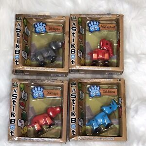 NEW-StikBot-Safari-Pets-Lot-of-4-Action-Figures