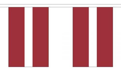 3m 6m 9m Metre Length 10 20 30 Flags Latvia Flag Bunting Polyester