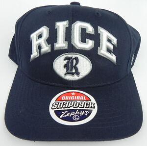 RICE-UNIVERSITY-OWLS-NAVY-NCAA-VINTAGE-SPORT-SNAPBACK-ZEPHYR-CAP-HAT-NWT