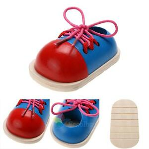 1pcs-Kid-Early-Montessori-Educational-Toy-Children-Toddler-Wooden-Lacing-Shoes-A
