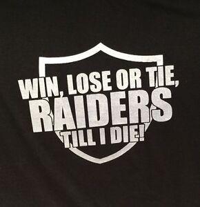 oakland raiders win lose or tie silver black t