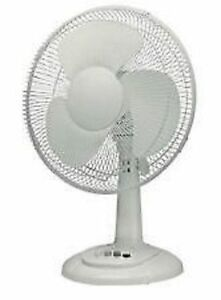 Fabulous Details About 12 Oscillating Quiet Silent Desk Fan 3 Speed Heavy Duty Home Office White Download Free Architecture Designs Scobabritishbridgeorg