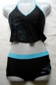 arena-Damen-Maedchen-Bikini-Tankini-Lubina-Gr-36-Black-Bahia-chlorbestaendig-14046