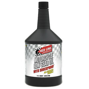 Red Line Oil 42704 Synthetic Motorcycle 80W Gear Lube 1 Quart