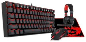 65993b6394f Red Dragon PC Gaming Key Board Headset Mouse and Mouse Pad Bundle ...