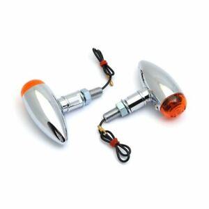 Bullet-Blinker-Set-Stahl-Chrom-fuer-Harley-Honda-Suzuki-Chopper-Oldtimer-Metall