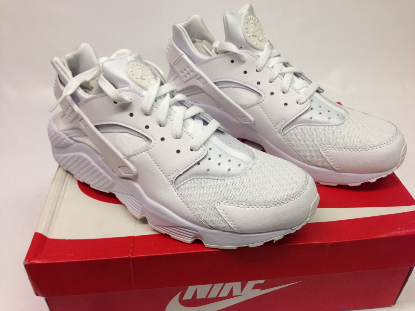NEW Men's Nike Air Huarache Running Shoes - Sizes 9  - 13 - White/White/White
