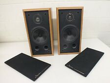 Vintage Infinity RS 325 High-End 2-Way Speakers Blond Wood Grain Cabinet GREAT