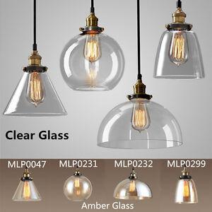Image Is Loading Modern Ceiling Light Clear Amber Gl Pendant