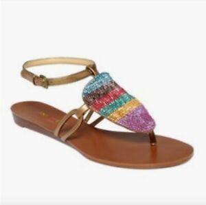 Nine West Wonderous Thong Slingback Beaded Sandal Macy S Brasil 9 Ebay