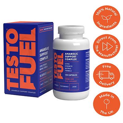 Testo Fuel - #1 Best Testosterone Booster for Men 120 Capsules - BUY DIRECT 617401624249 eBay