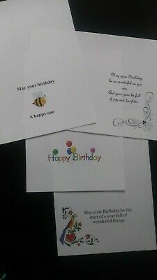 12 x MIXED PRINTED CARD INSERTS For Handmade Cards A5 to fit A6 cards