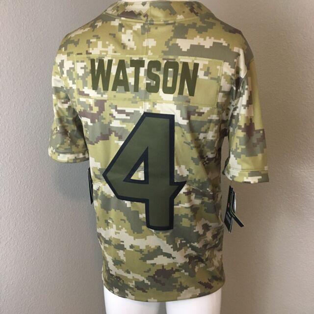 Houston Texans DeShaun Watson Salute to Service Nike NFL Jersey Ah4940-335 Sz S