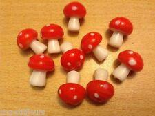 Foam cute TOADSTOOL ornaments decorations x10 20mm Ooak fairy garden UK B64