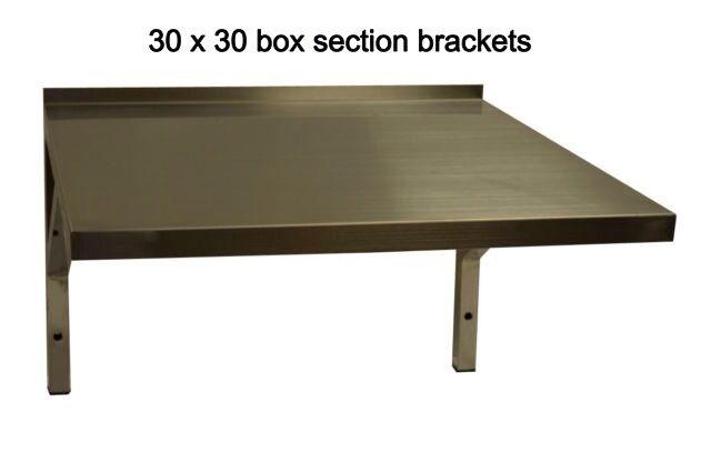 NEW Stainless Steel Microwave Shelf or Machine Wall Shelf  550w X 450d...