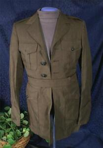 Original-Late-80s-US-MARINE-CORPS-USMC-DRESS-GREEN-ALPHA-UNIFORM-TUNIC-Sz-35-R