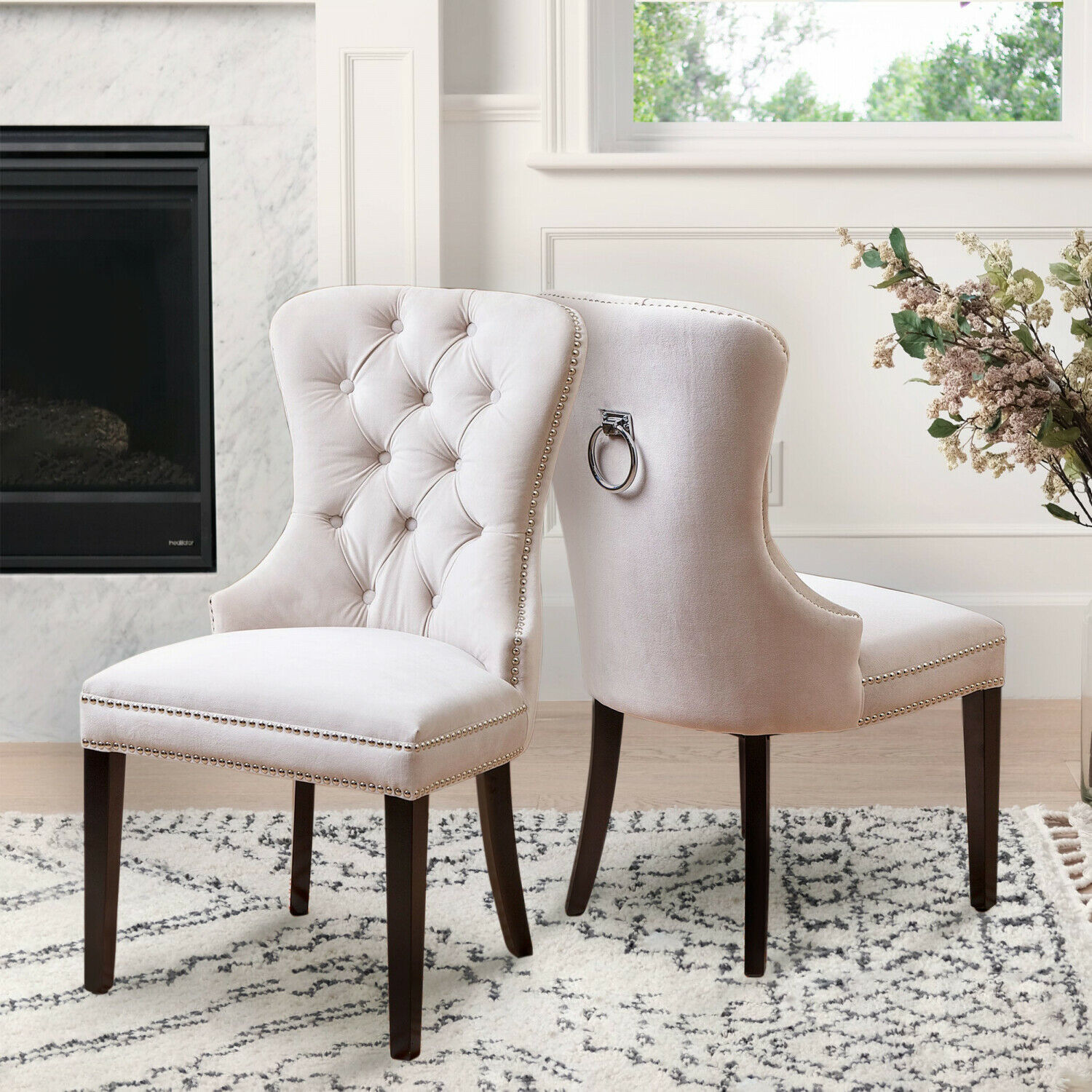 Magnificent Abbyson Versailles Tufted Velvet Dining Chair Bralicious Painted Fabric Chair Ideas Braliciousco
