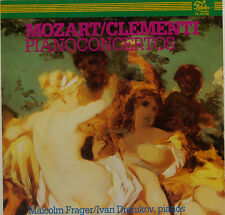 "MOZART CLEMENTI PIANO CONCERTOS MALCOLM FRAGER IVAN DRENIKOV 12"" LP (c840)"