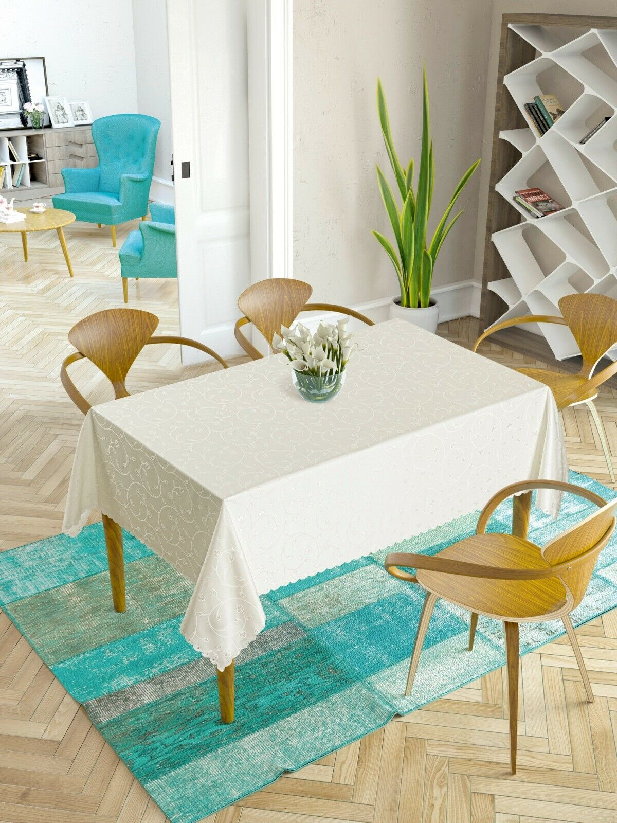 John Lewis Marimekko Unikko Tablecloth X Large 160cm X 320cm For Sale Online Ebay