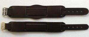 LEATHER-MILITARY-BUND-BROWN-WATCH-STRAP-NATO-MOD-SS-GP-BUCKLE-16MM-TO-20MM