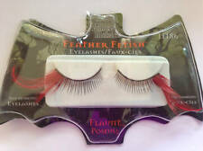 Fantasy Makers Wet N Wild Flaunt Red Feather False Eyelashes Halloween Costume