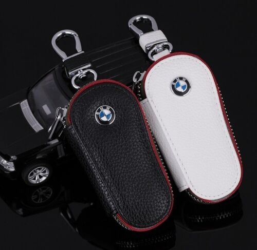 Unisex high quality leather Car Key Holder Key chain Ring Case Bag For BMW auto