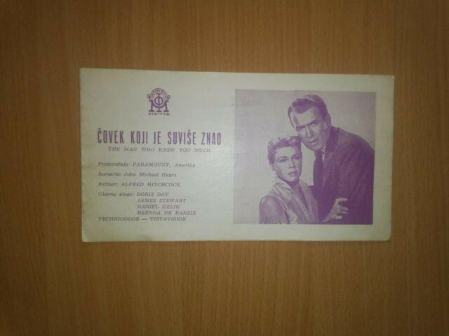 The Man Who Knew Too  Much 1956 - Ex Yugoslavia movie program