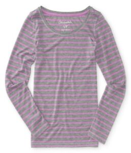 AEROPOSTALE-WOMENS-LONG-SLEEVE-BASIC-T-SHIRT-WIDE-NECK-CREW-THIN-STRIPED