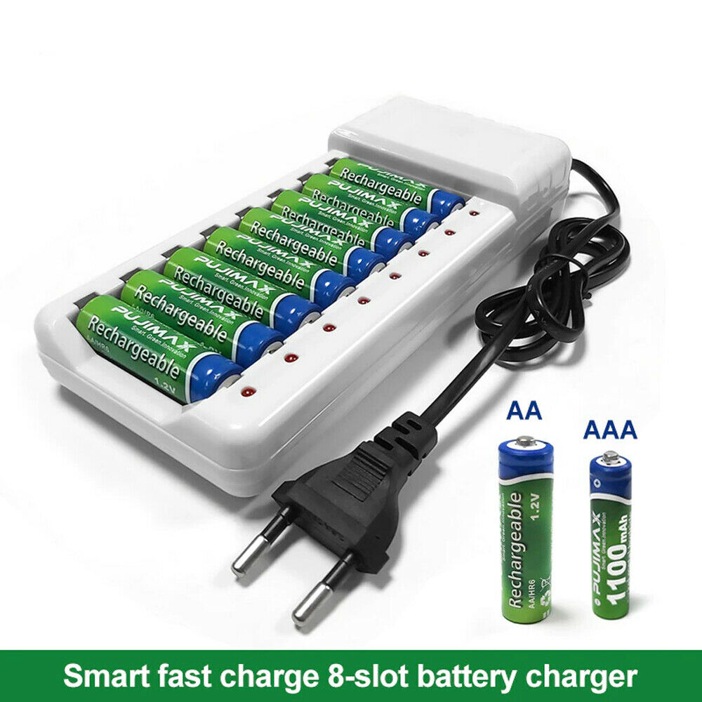 Charger 8 Slots for AA & AAA Rechargeable Batteries