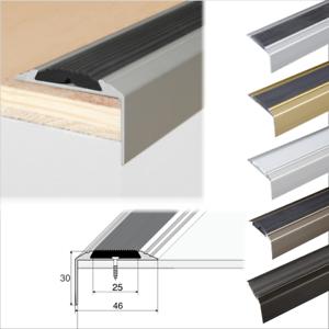 Details About Aluminium Stair Nosing Edge Trim Step Nose Edging Nosings For  Carpet,Wood... A38