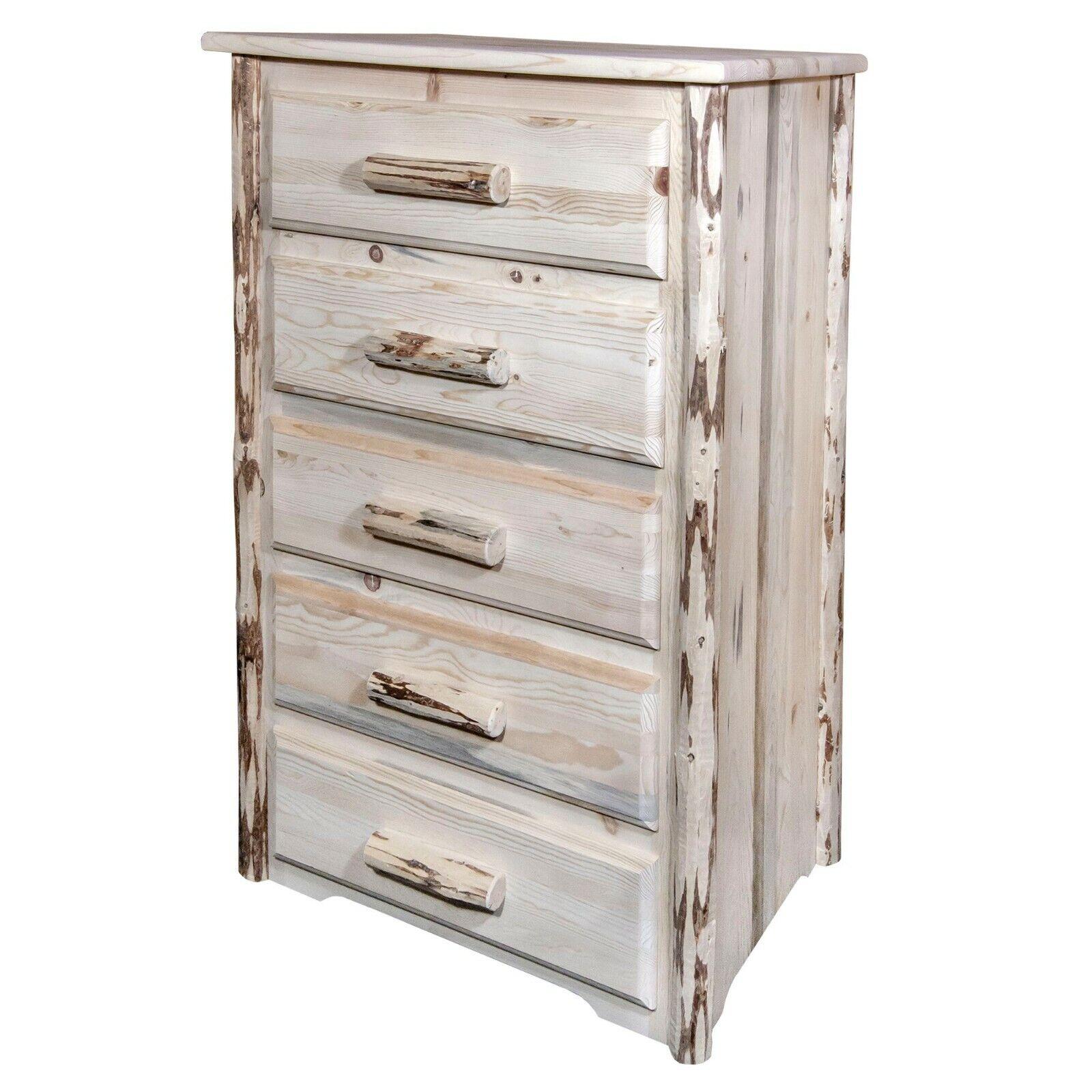 Unfinished Dresser Solid Pine Wood