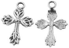 10 Tibetan Silver Cross Pendant Charms Antique Gothic