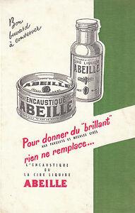 Buvard-Vintage-Cire-Encaustique-Abeille