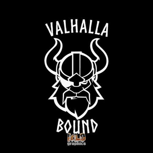 VALHALLA BOUND vinyl Sticker NORSE BERSERKER VIKING VALKNUT TALISMAN ULFHEDNAR