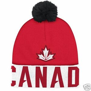 Team Canada Adidas 2016 World Cup of Hockey Pom Beanie - NEW  38dcd981ad8